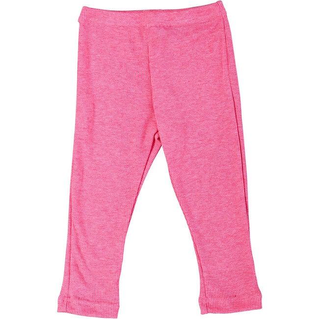 Ribbed Leggings, Pink