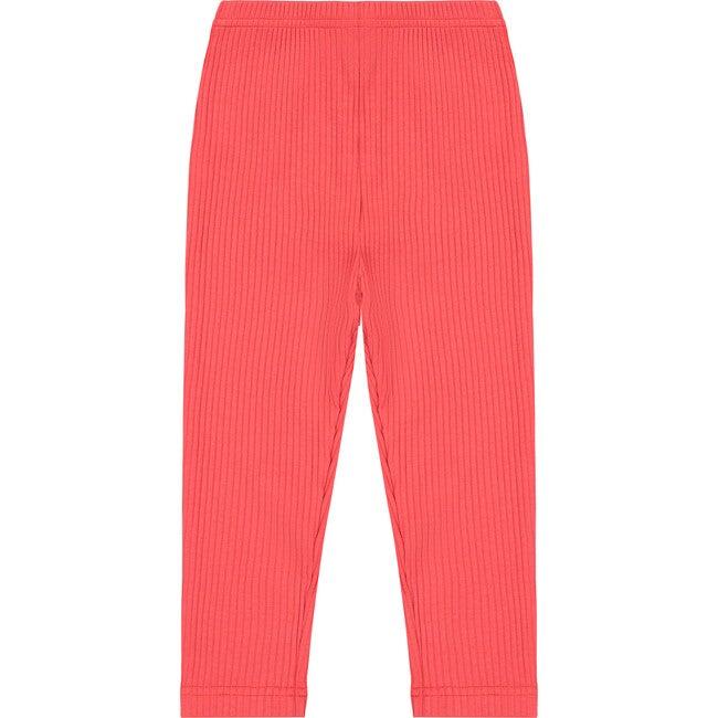 Ribbed Leggings, Red