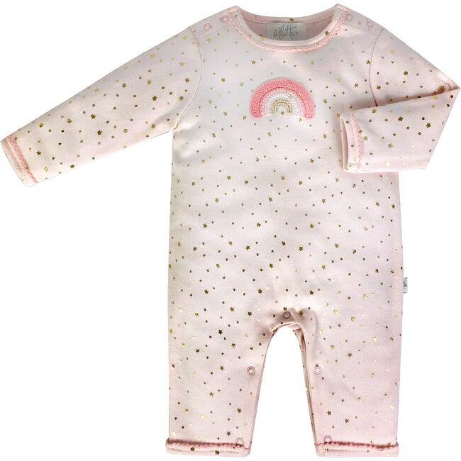 Crochet Pink Rainbow Babygro