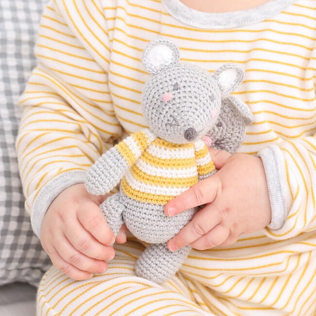 Crochet Mouse Rattle Toy