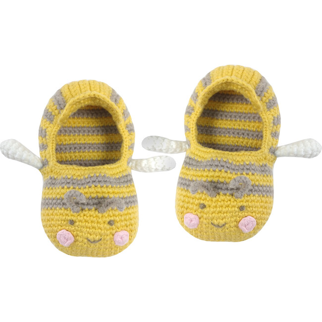 Crochet Baby Bee Booties - Booties - 1