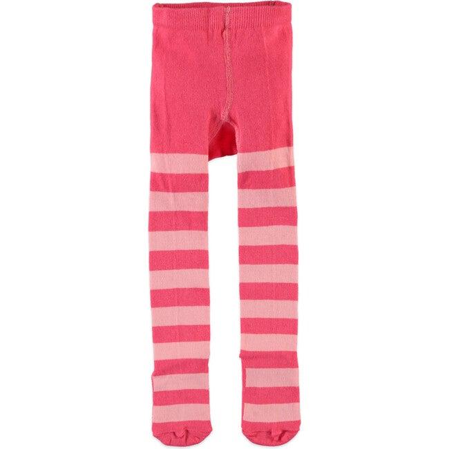 Wide Stripe Tights, Pink