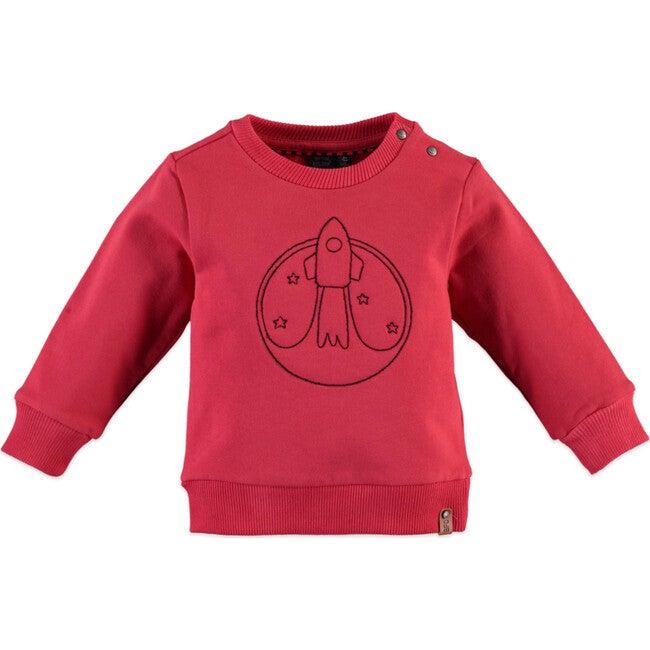 Rocket Sweatshirt, Red - Sweatshirts - 1