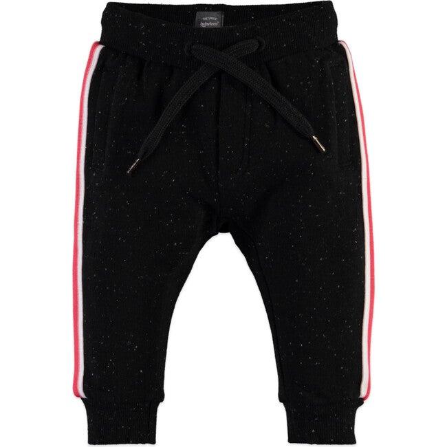 Side Stripe Sweatpants, Black - Sweatpants - 1