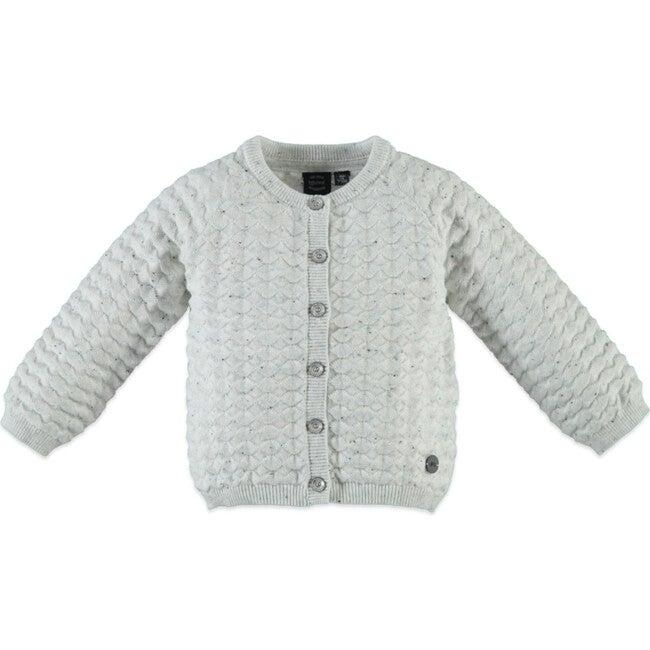 Cardigan, Crème Melange - Sweaters - 1