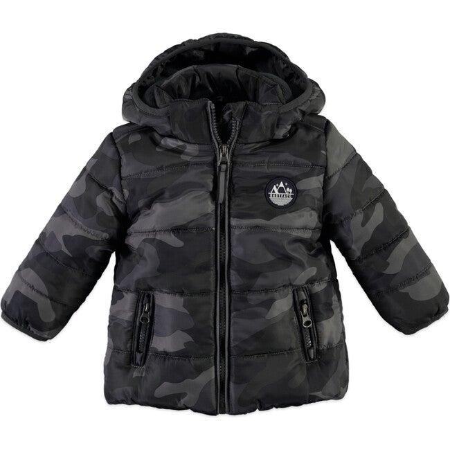 Hooded Parka, Grey Camo - Jackets - 1