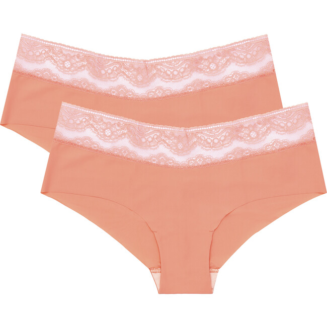 Rosa Knicker Two Pack, Salmon