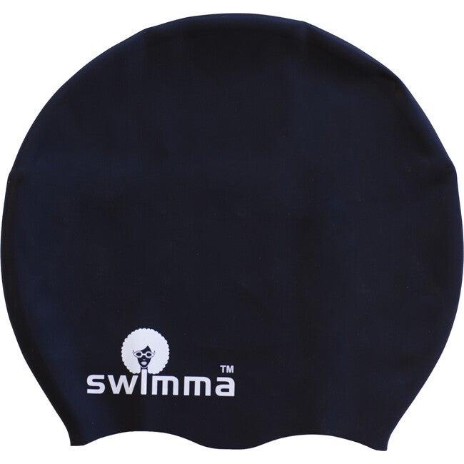 Afro-midi Swimcap, Black