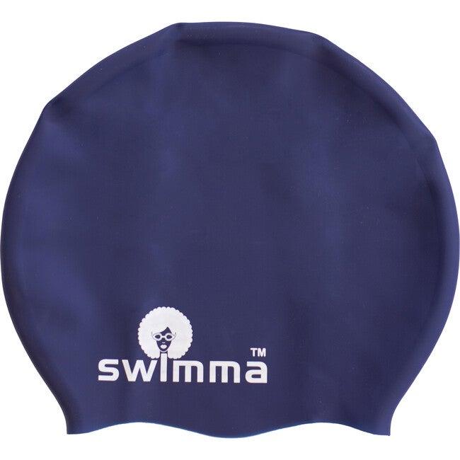 Afro-kids MIDI Swimcap, Navy