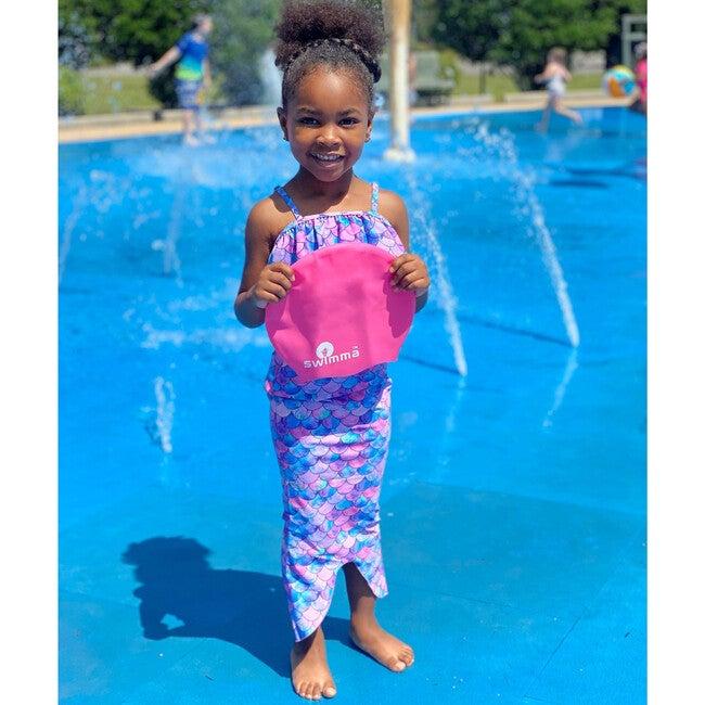 Afro-kids MIDI Swimcap, Royal Blue