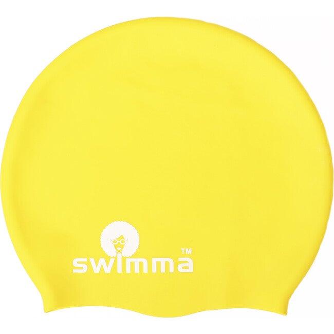 Afro-kids Swimcap, Yellow