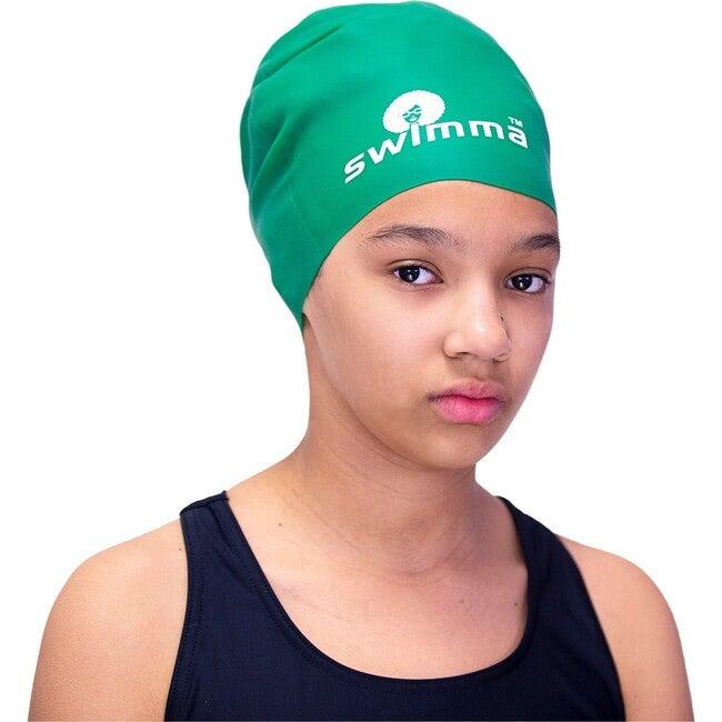 Afro-kids Swimcap, Green