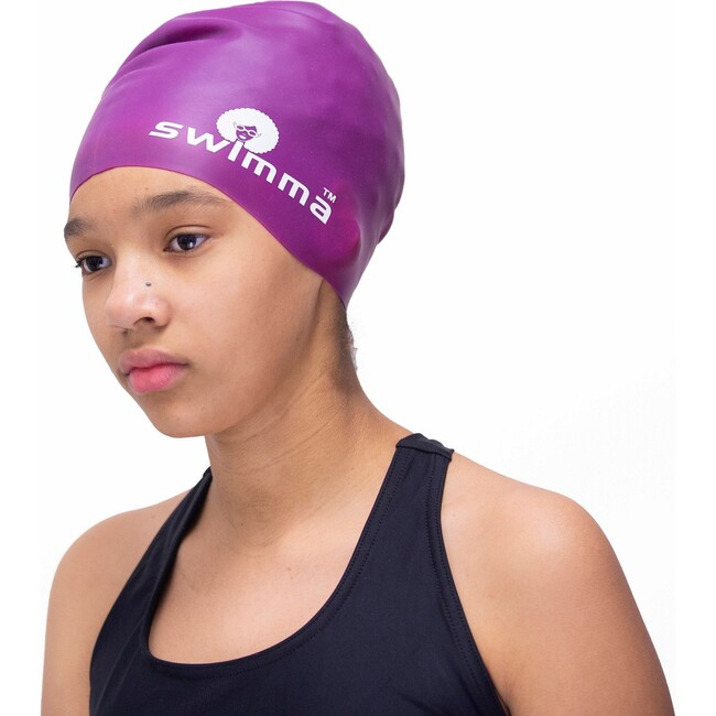 Afro-kids Swimcap, Purple