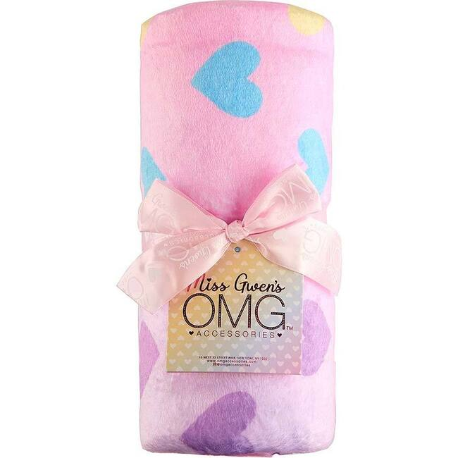 Ombre Heart Print Blanket, Ombre