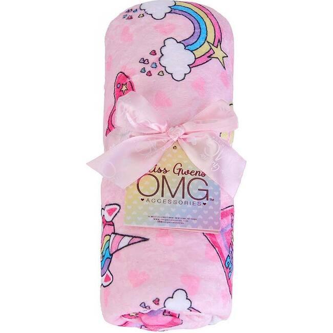 Miss Gwen Peace & Love Print Blanket, Multi