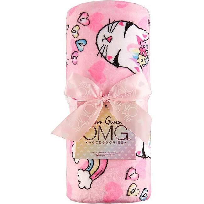 Miss Bella Love Print Blanket, Multi