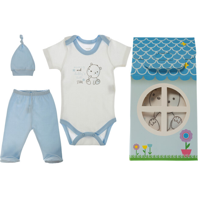 Patisserie Collection 3-Piece Layette Gift Set, Blue Bear