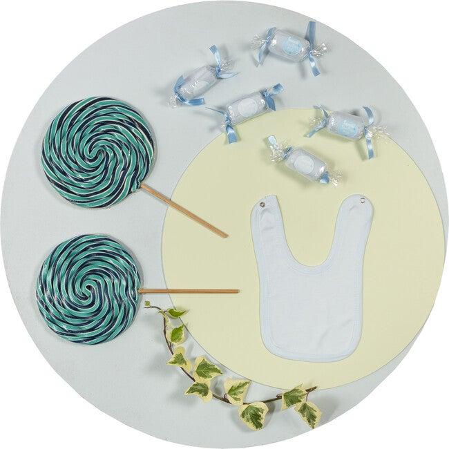 Patisserie Bonbon Candy Bibs (Set of 2), Blue