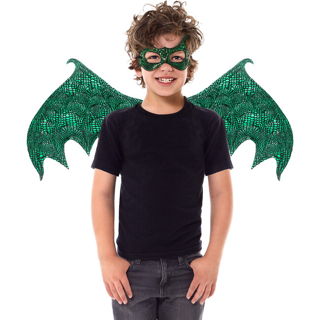 Green Dragon Wings and Mask