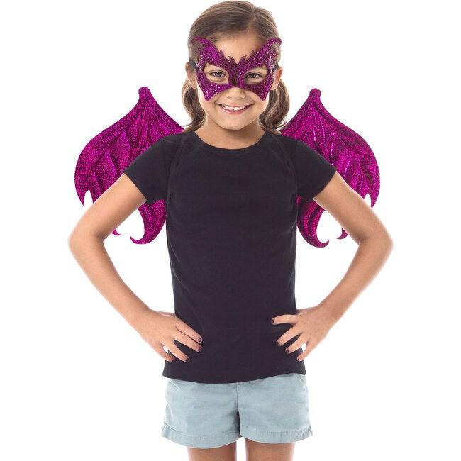 Magenta Dragon Wings and Mask