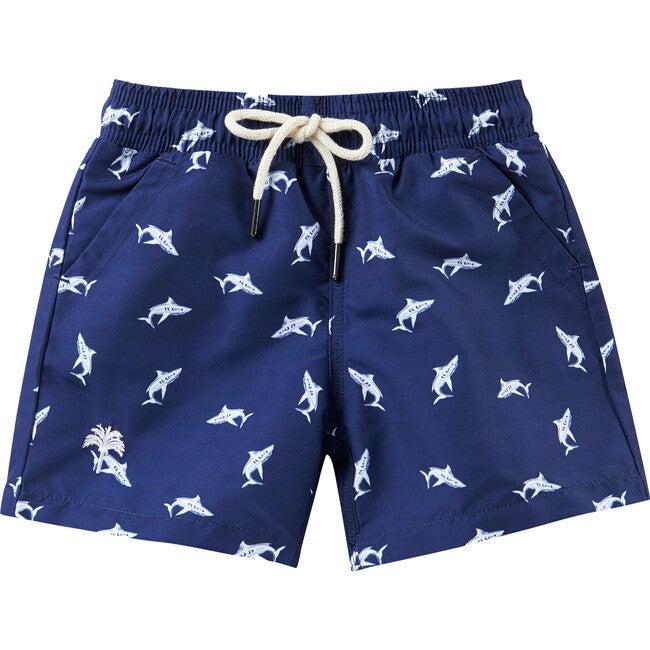 Shark Swim Trunks, Blue