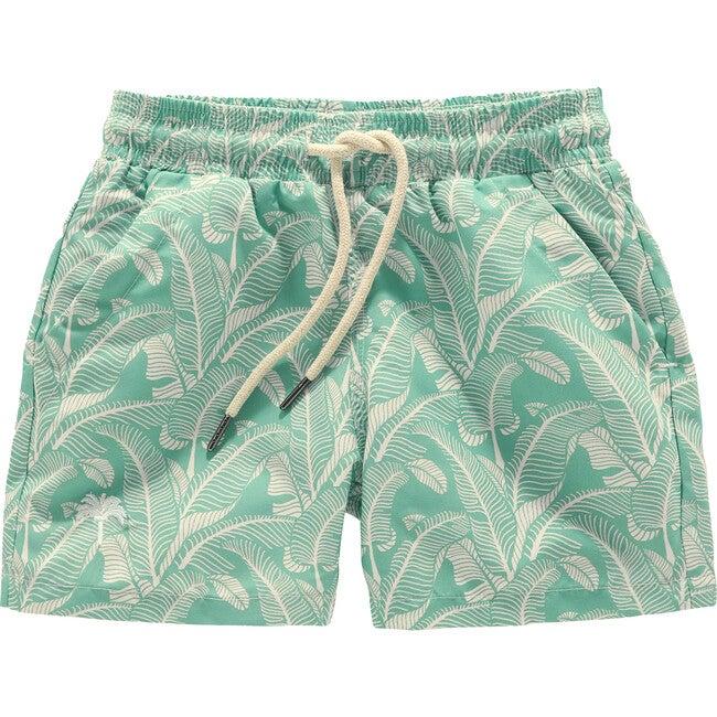 New Leaf Swim Trunks, Green