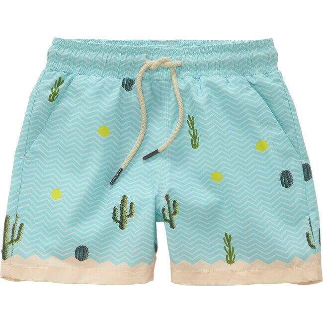 Mexico Swim Trunks, Blue
