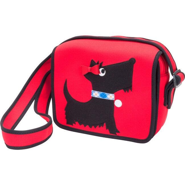 Scottie Crossbody Messenger Bag, Red and Black - Bags - 1