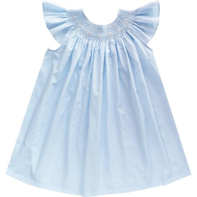 Alba Dress Embroidered, Light Blue