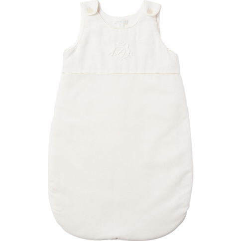 Olympia Sleepnest With Crest Embroidery in Off White