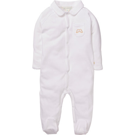 Angel Wing Sleepsuit With Mittens in White