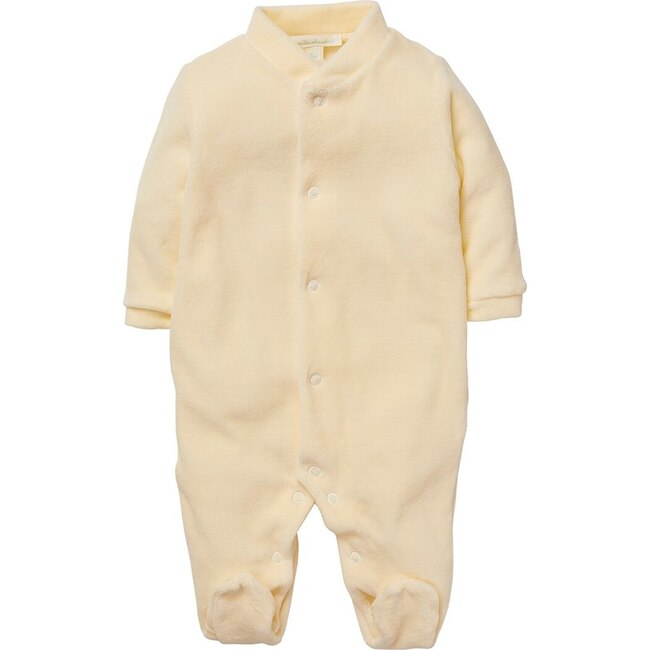 Angel Wing Gold Velour Sleepsuit, Cream