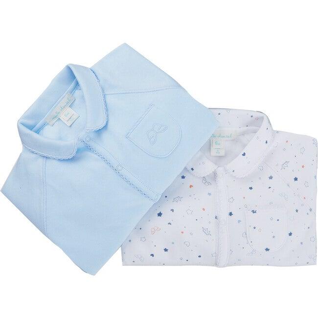 Star & Crown Print Gift Set, Blue