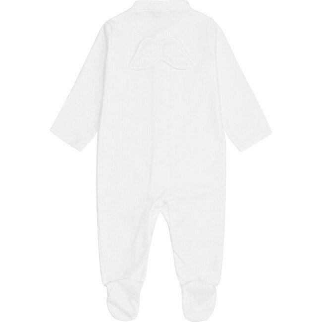Pointelle Angel Wing Sleepsuit in White
