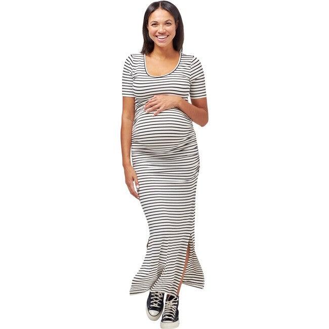 Women's Hugo Maxi Dress, White/Black Stripe