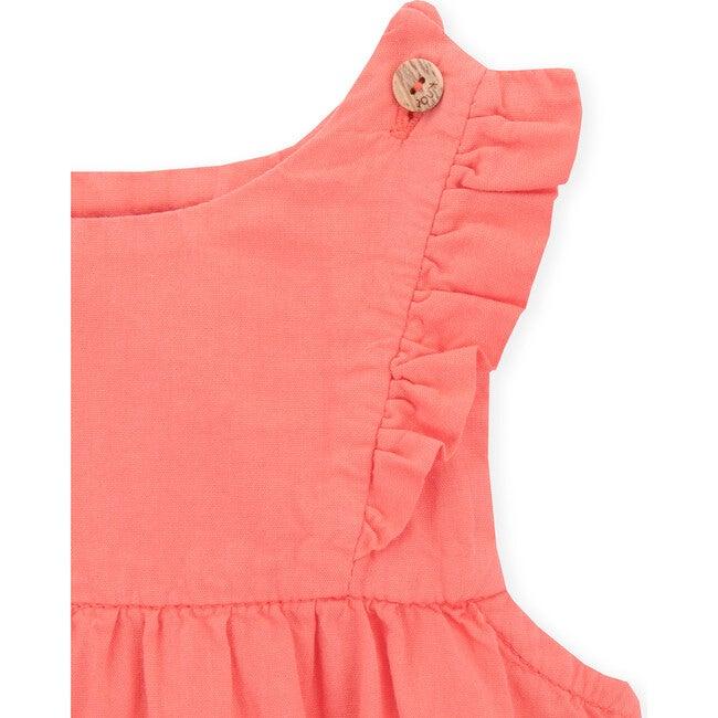 Baby Amber Pinafore Dress, Coral