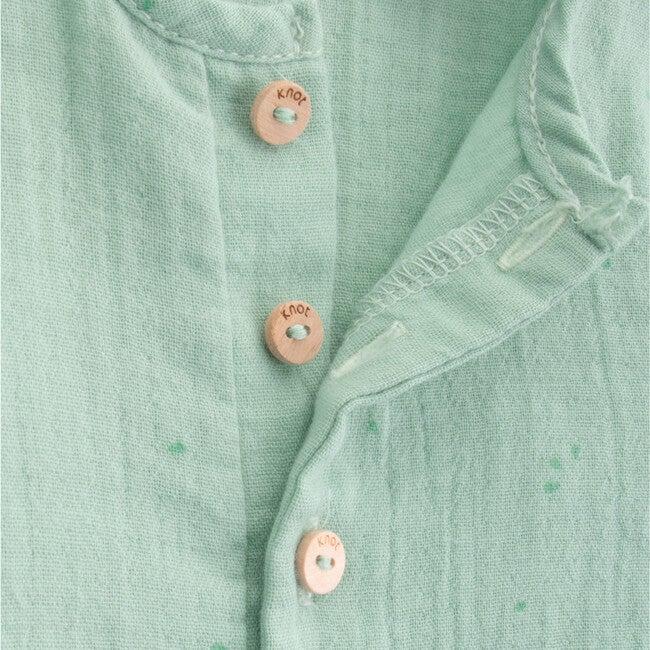 Newborn Organic Cotton Jumpsuit, Kiwi