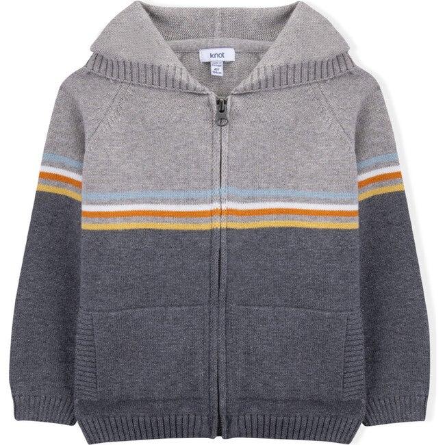 Knitted Edward Coat, Multi