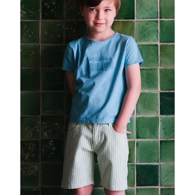 Eddie Twill Shorts, Green Stripe