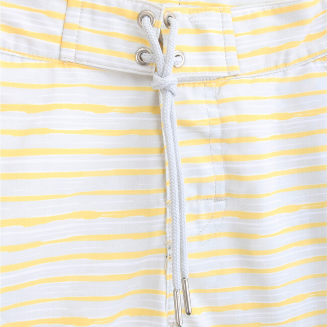 Swim Shorts, Yellow Stripes