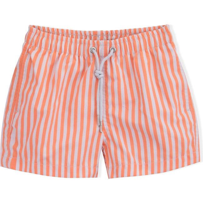 Swim Shorts, Coral Stripes