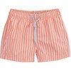 Swim Shorts, Coral Stripes - Swim Trunks - 1 - thumbnail