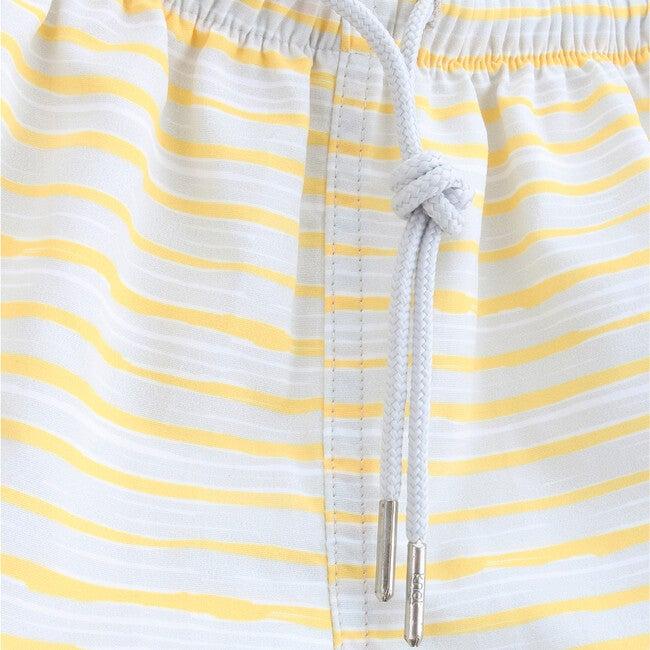 Baby Swim Shorts, Yellow Stripes