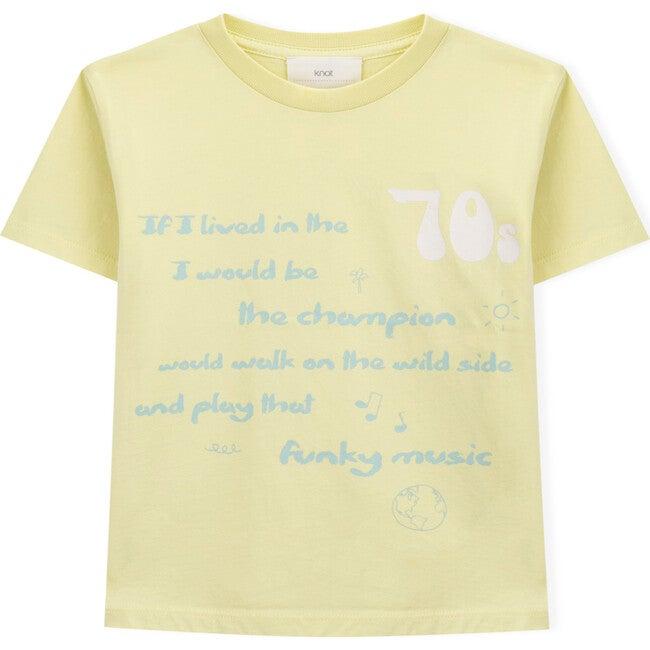 70s Short Sleeve T-Shirt, Yellow