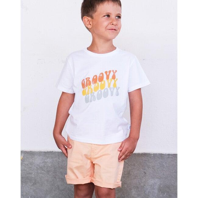Groovy Short Sleeve T-Shirt, White