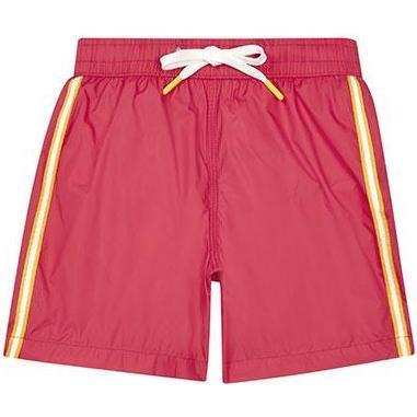 Achille Side Stripe Swim Trunks, Red