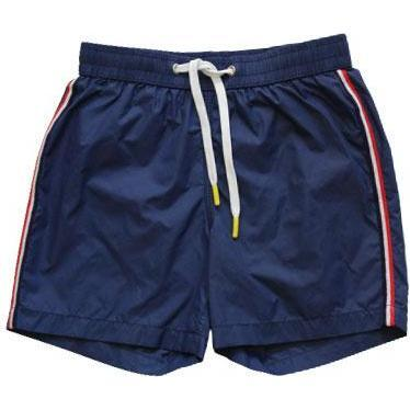 Achille Side Stripe Swim Trunks, Navy