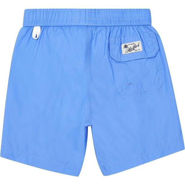 Achille Side Stripe Swim Trunks, Blue