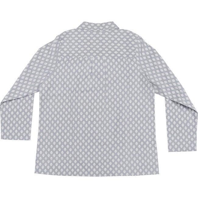 Women's Norette Pajama Set, Grey & White