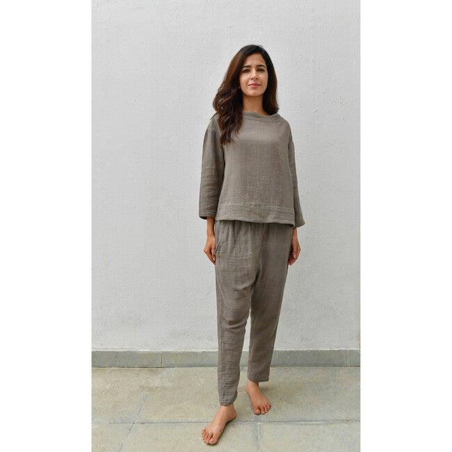 Women's Lea Pajama Set, Winter Moss
